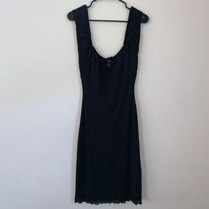 Guess Off Shoulder Black Midi Dress